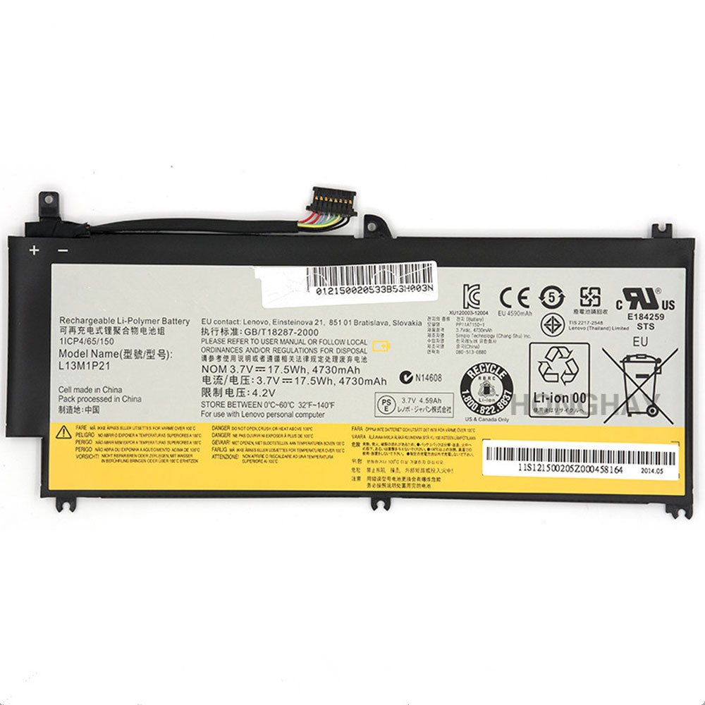 4730mAh/17.5Wh 3.7V L13L1P21 Replacement Battery for Lenovo Miix 2 8 inch Tablet PC