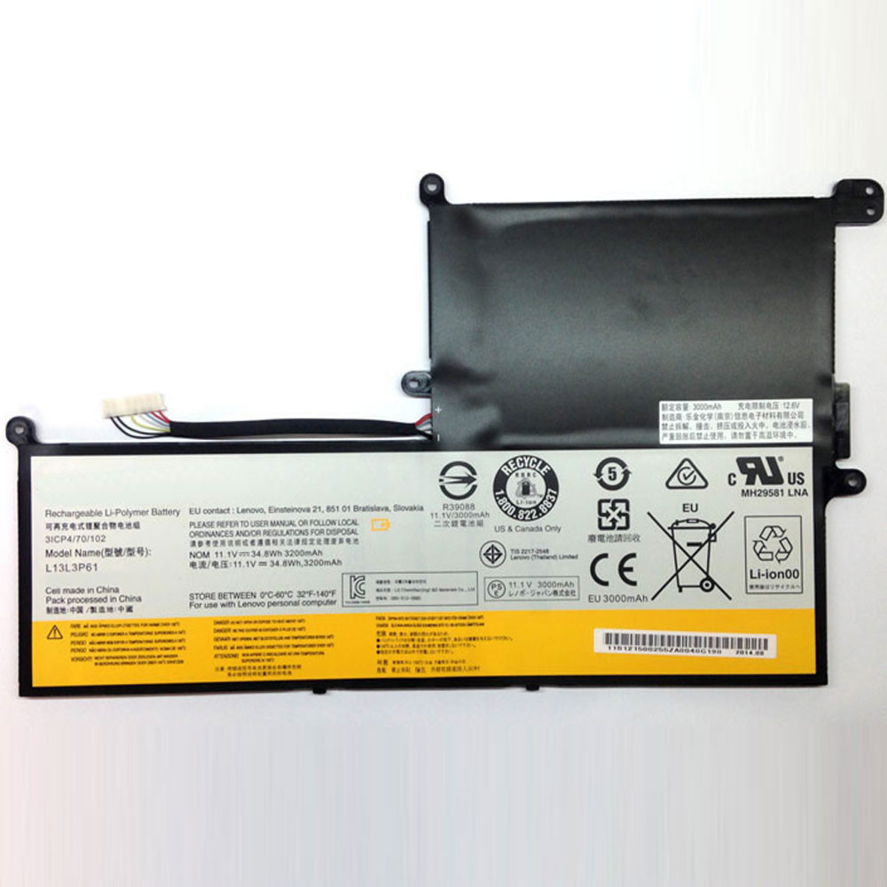 34.8Wh/3200MAH  Lenovo Chromebook N20P Series Replacement Battery L13L3P61 11.1V