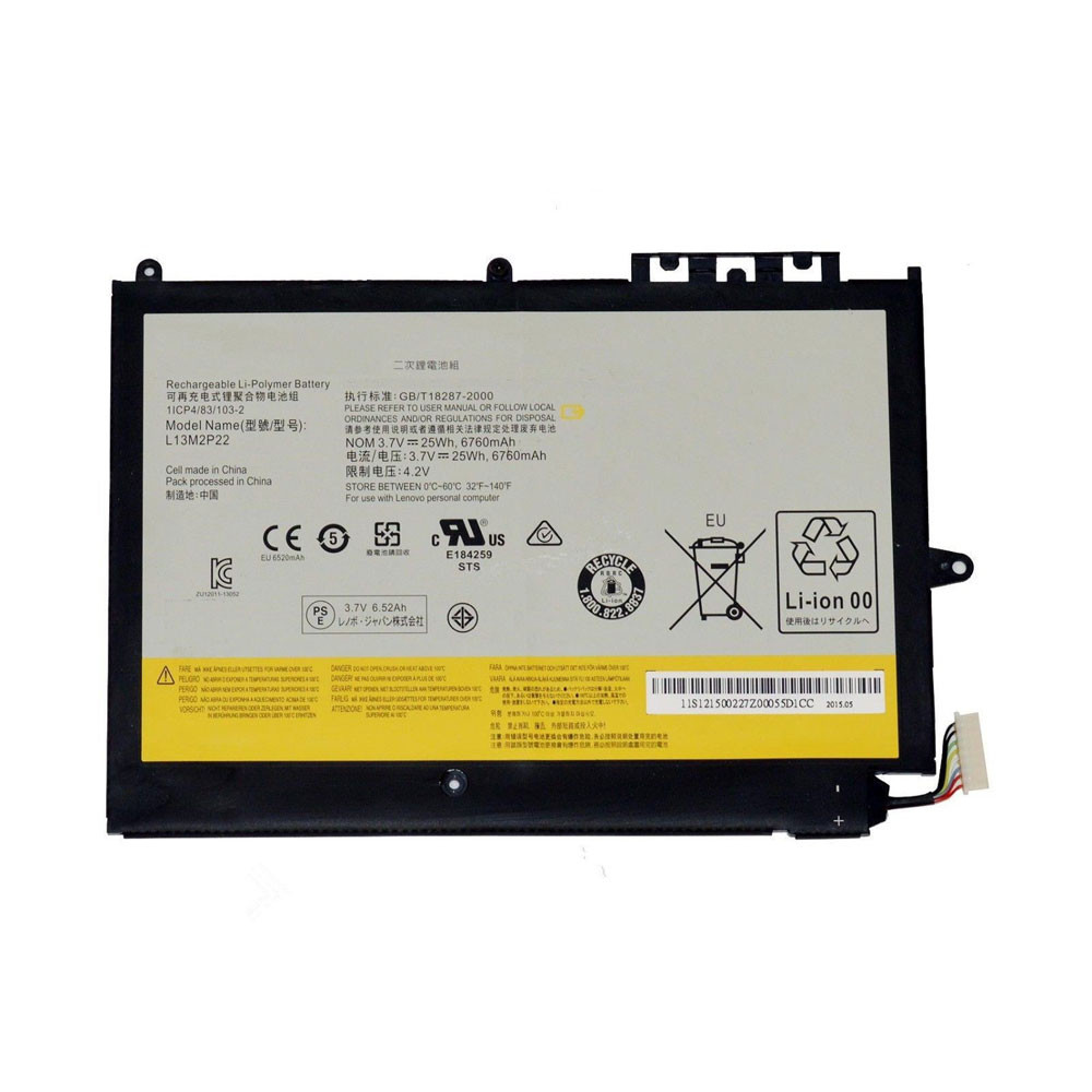25Wh/6760mAh 3.7V L13M2P22 Replacement Battery for Lenovo MIIX2 3 10 Series