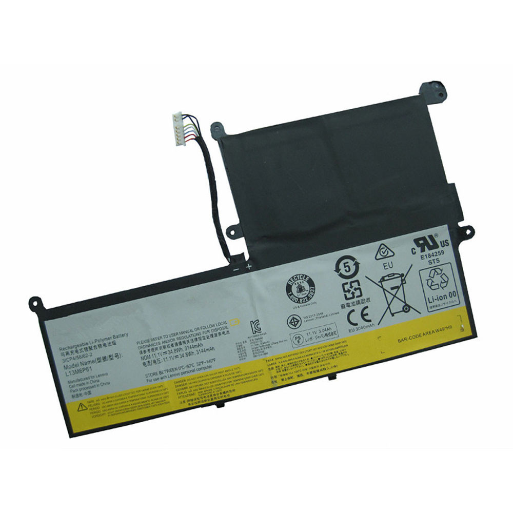 3144mAh/34.8Wh 11.1V L13M6P61 Replacement Battery for Lenovo 3ICP4/58/62-2 L13L6P61 L13S6P61