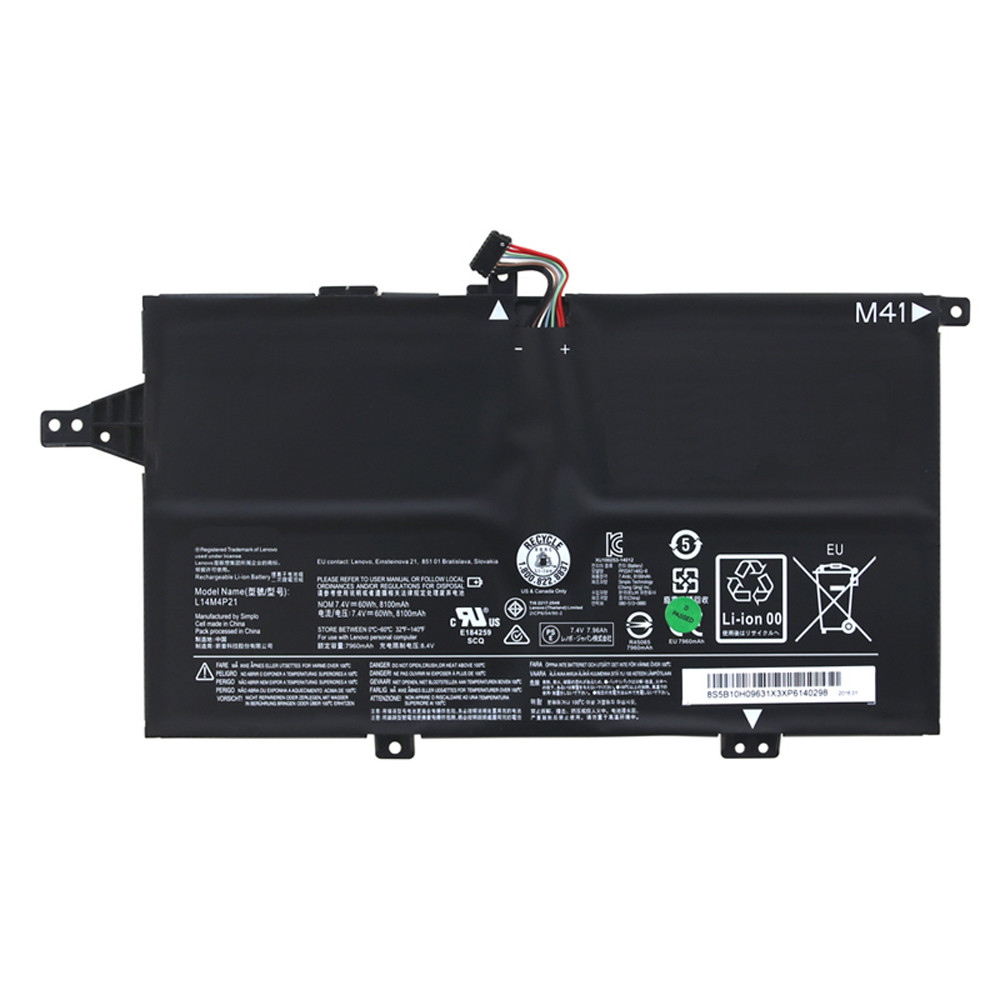 60Wh/8100mAh Lenovo M41-70 K41-70 Series Replacement Battery L14M4P21 7.4V