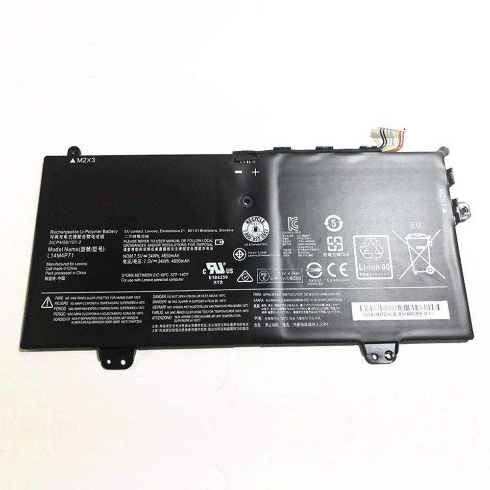 4680mAh/34Wh 7.6V L14M4P71 Replacement Battery for Lenovo Yoga 3 11 80J8 11-5Y10 11-5Y71