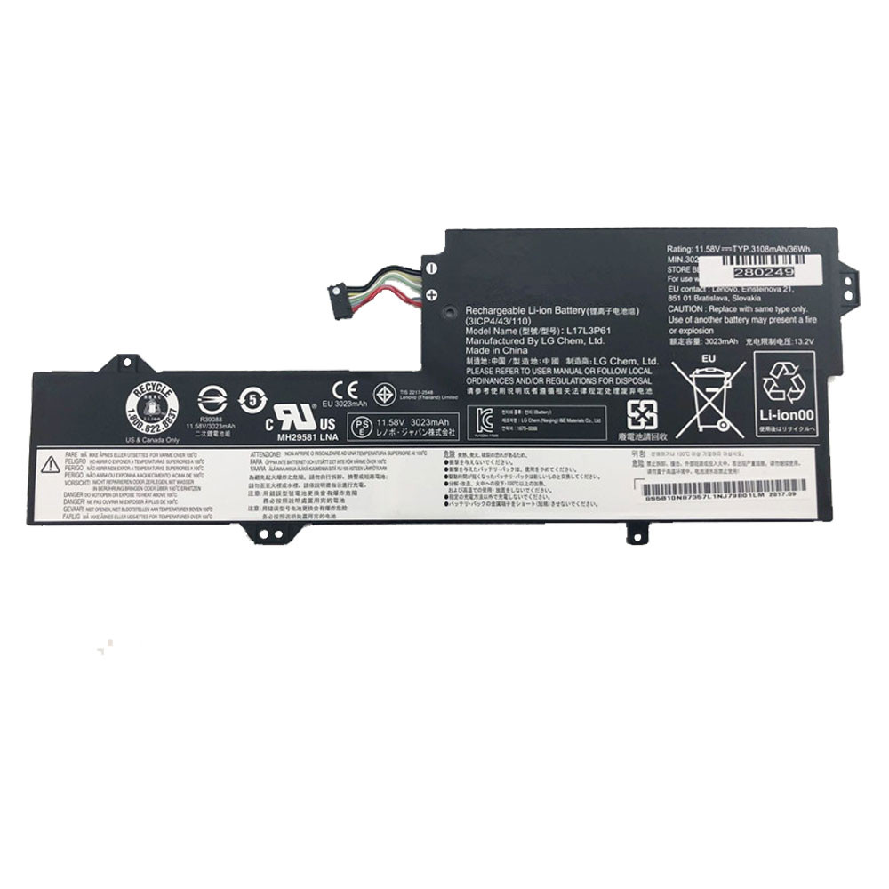 3023mah/36Wh 11.58V L17L3P61 Replacement Battery for Lenovo 7000-13 Series