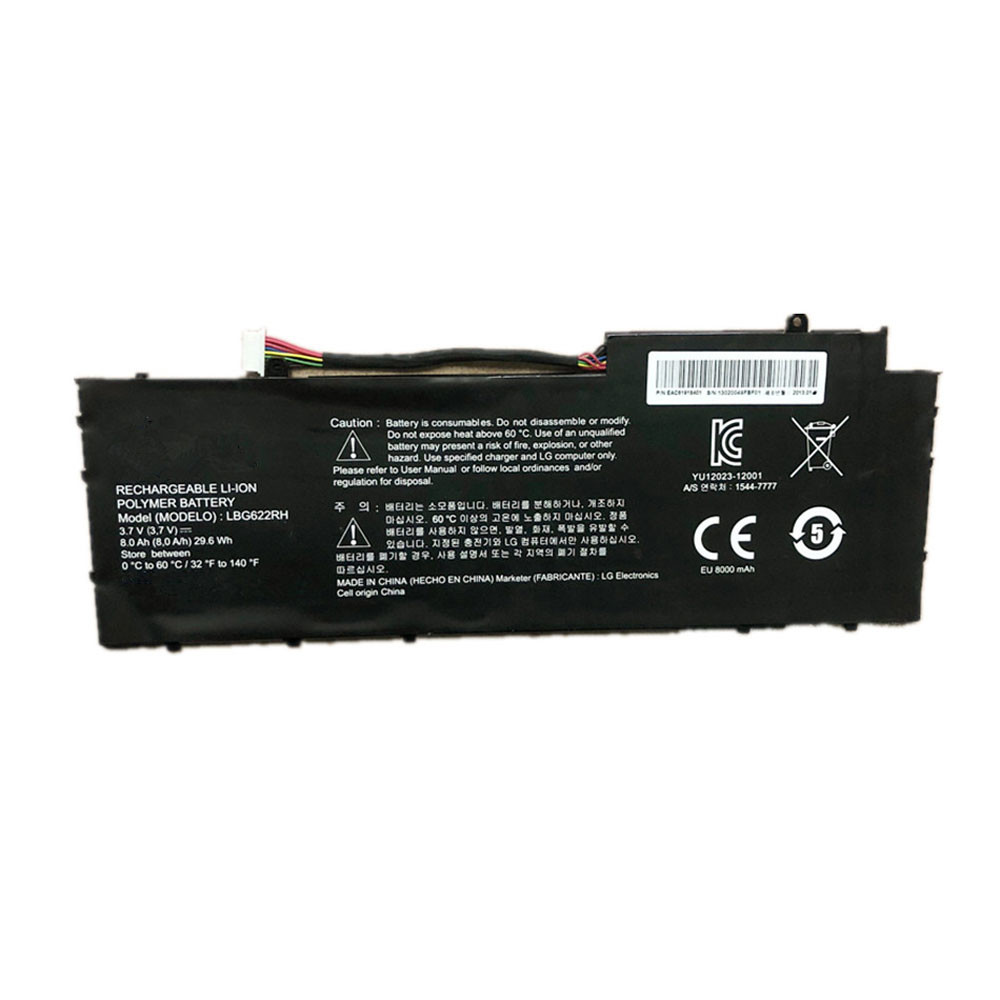 8000mAh/29.6WH 3.7V LBG622RH Replacement Battery for LG XNOTE LBG622RH Series