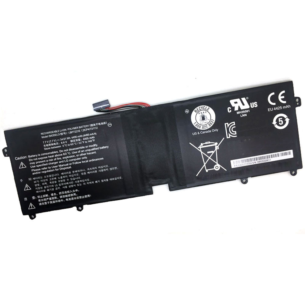 34.61Wh/4495mAh 7.7V LBP7221E Replacement Battery for LG Gram 15 LBP7221E 2ICP4/73/113 Series