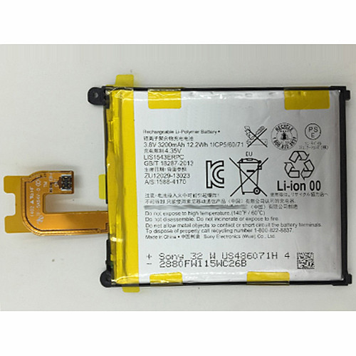 3000mAh Sony Xperia Z2 D6503 L50W Replacement Battery LIS1542ERPC 3.8V
