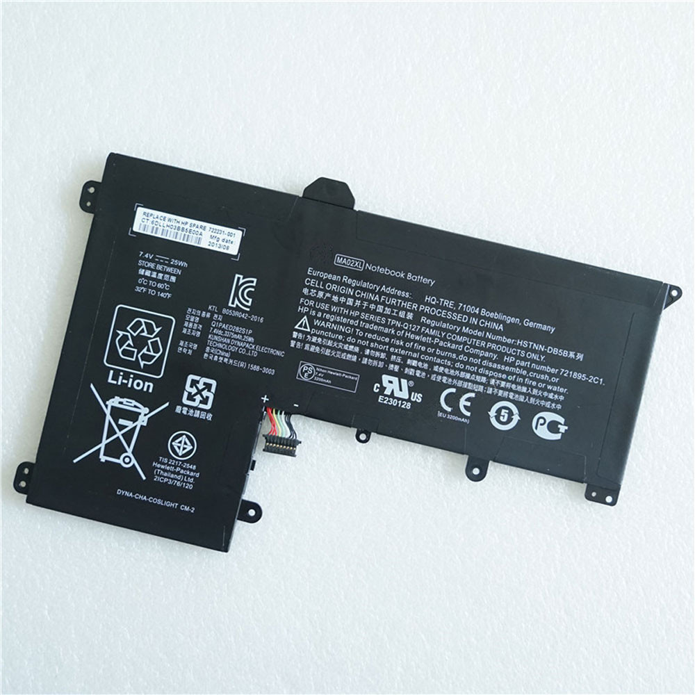 25Wh 7.4V MA02XL Replacement Battery for HP SlateBook 10 X2 Series