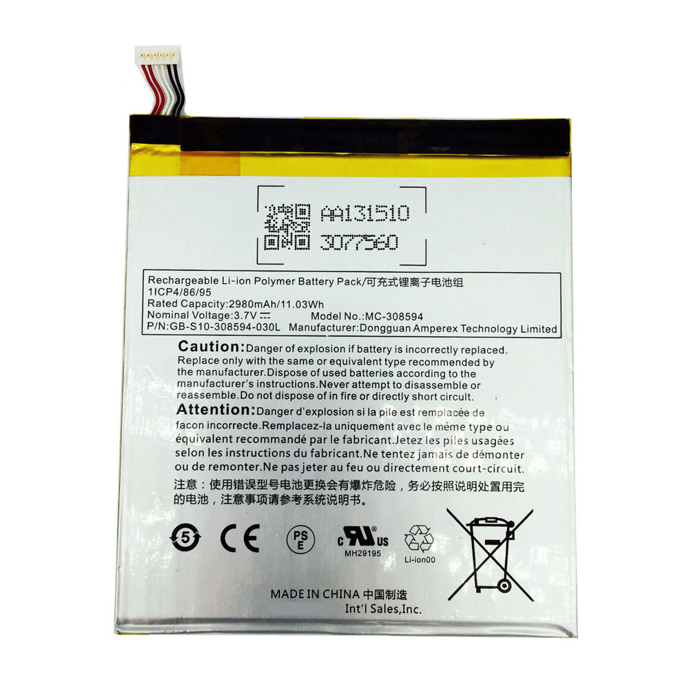 2980mAh 3.7V SR043KL Replacement Battery for Amazon Fire 7 (7th Generation) SR043KL 2017 With Alexa
