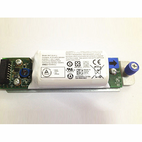 1.1Ah/7.3Wh Dell Raid BAT 2S1P-2 Controller Battery PowerVault MD3200i MD3220i SAN Array Replacement Battery 2S1P-2 6.6V
