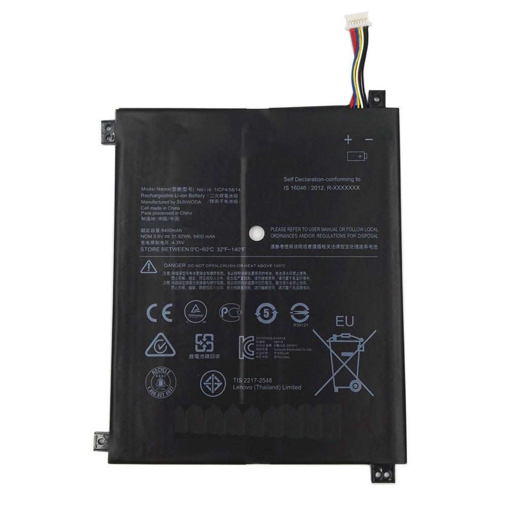 31.92Wh 3.8V NB116 Replacement Battery for Lenovo IdeaPad 100S 100S-11IBY 80R2 100S-80 R2