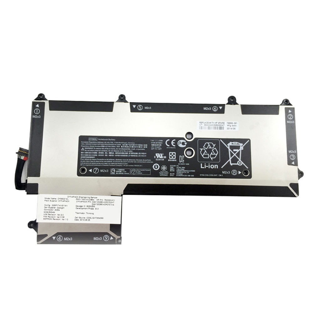 21Wh 7.4V OY06XL Replacement Battery for HP OY06XL HSTNN-DB6A 750335-2B1