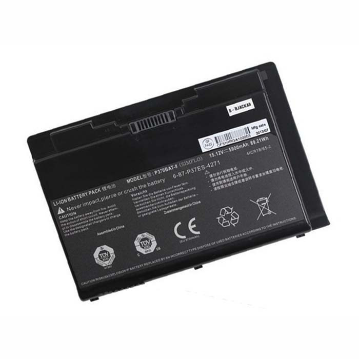 89.21wh/5900mAh Clevo X900 P370EM P370SM P370SM-A P375SM series Replacement Battery P370BAT-8 15.12V