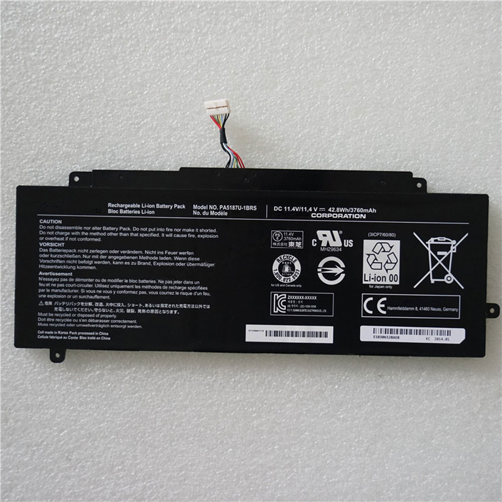 3760mAh/43Wh 10.8V PA5187U-1BRS Replacement Battery for Toshiba Click 2 L35W L35W-B3204 Series