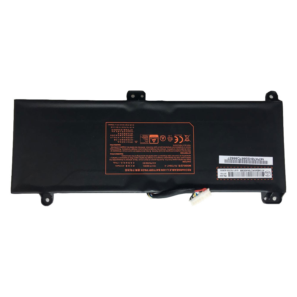 66Wh/4320mAh 15V PA70BAT-4 Replacement Battery for Clevo PA70HP6-G PA70HS-G PA71HP6-G 4ICP6/66/83 Series