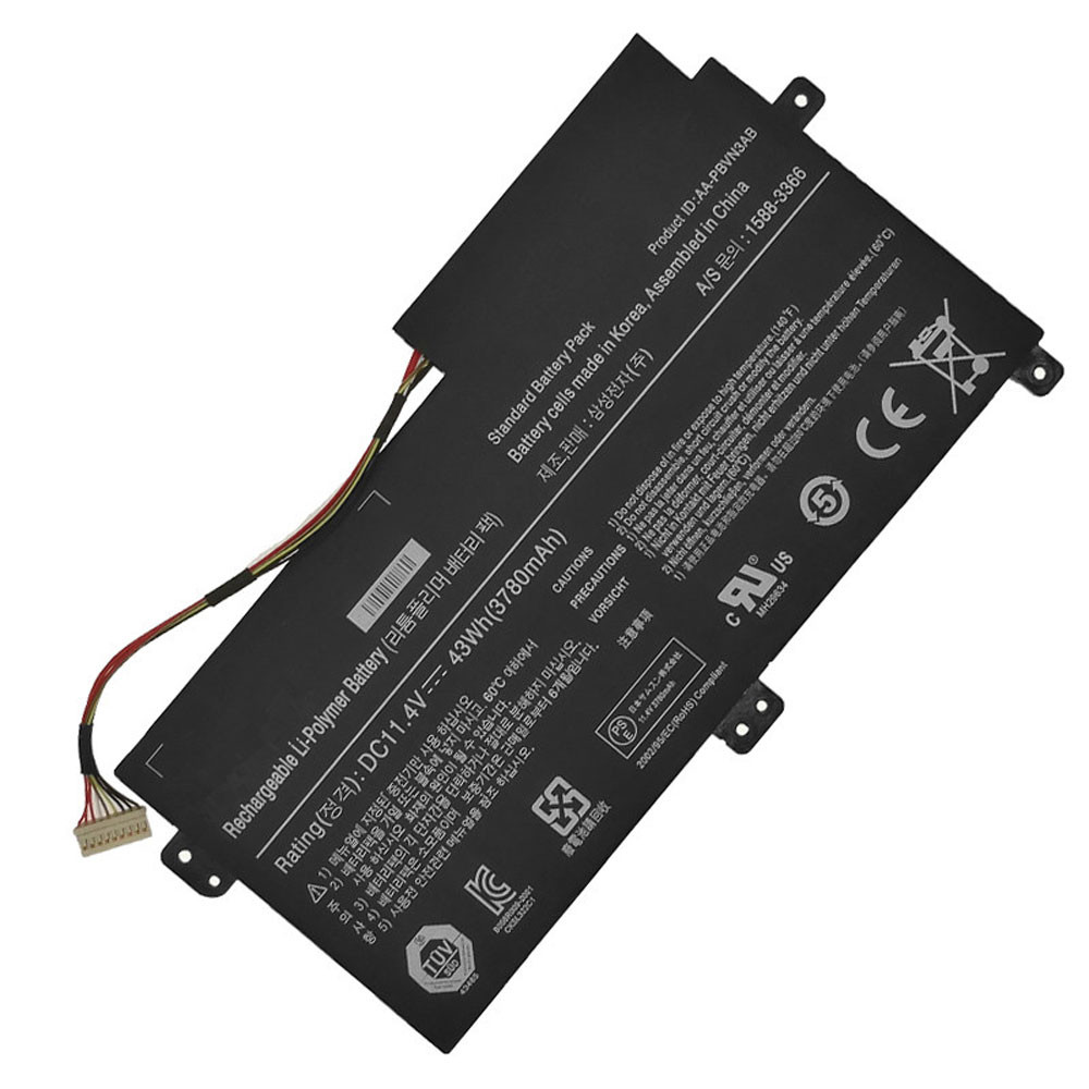 11.4V/43WH 3780MAH AA-PBVN3AB Replacement Battery for Samsung NP370R4E NP370R5E NP450R4E NP450