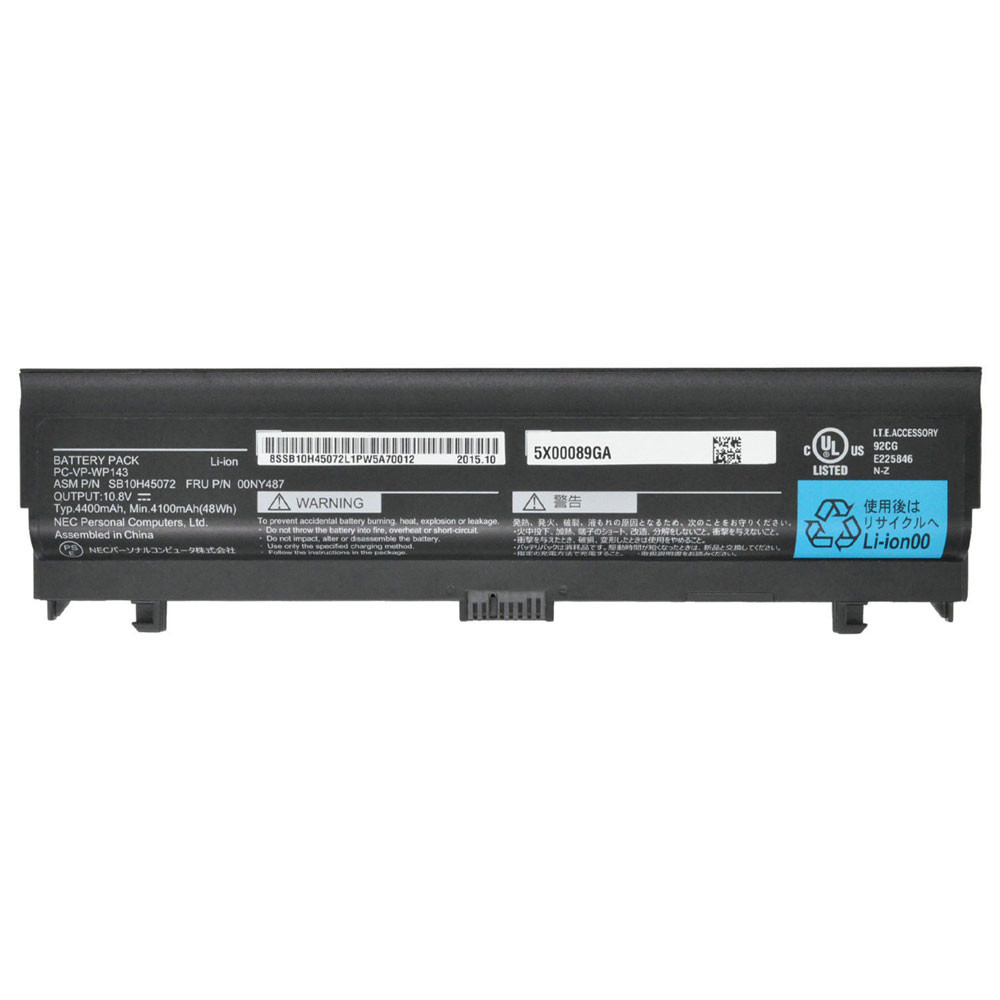 4400mAh/48Wh 10.8V PC-VP-WP143 Replacement Battery for NEC SB10H45072 00NY487 Series