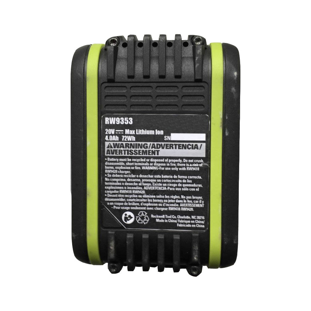 4.0Ah/72wh 20V RW9353 Replacement Battery for RICKWELL RW9353