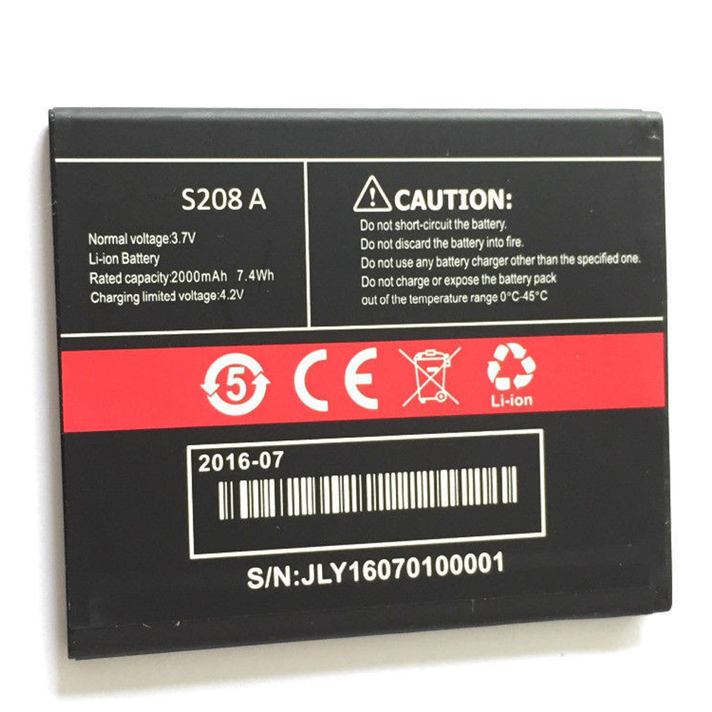 2000MAH 3.7V/4.2V S208A Replacement Battery for CUBOT S208A S208 A