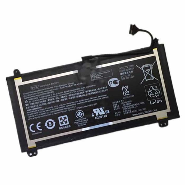 21Wh HP SF02XL Replacement Battery HSTNN-DB6H 7.4V