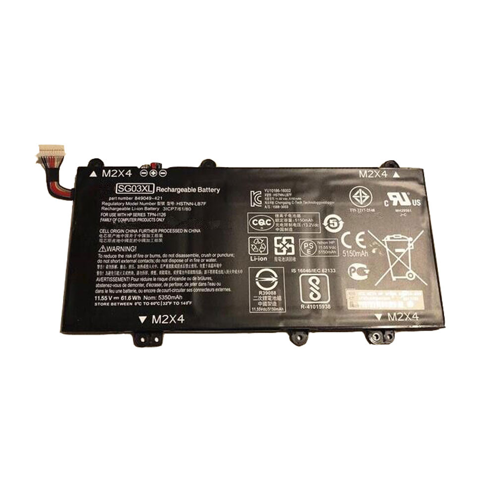 61.6Wh/5150mAh 11.55V SG03XL Replacement Battery for HP envy 17-u011nr