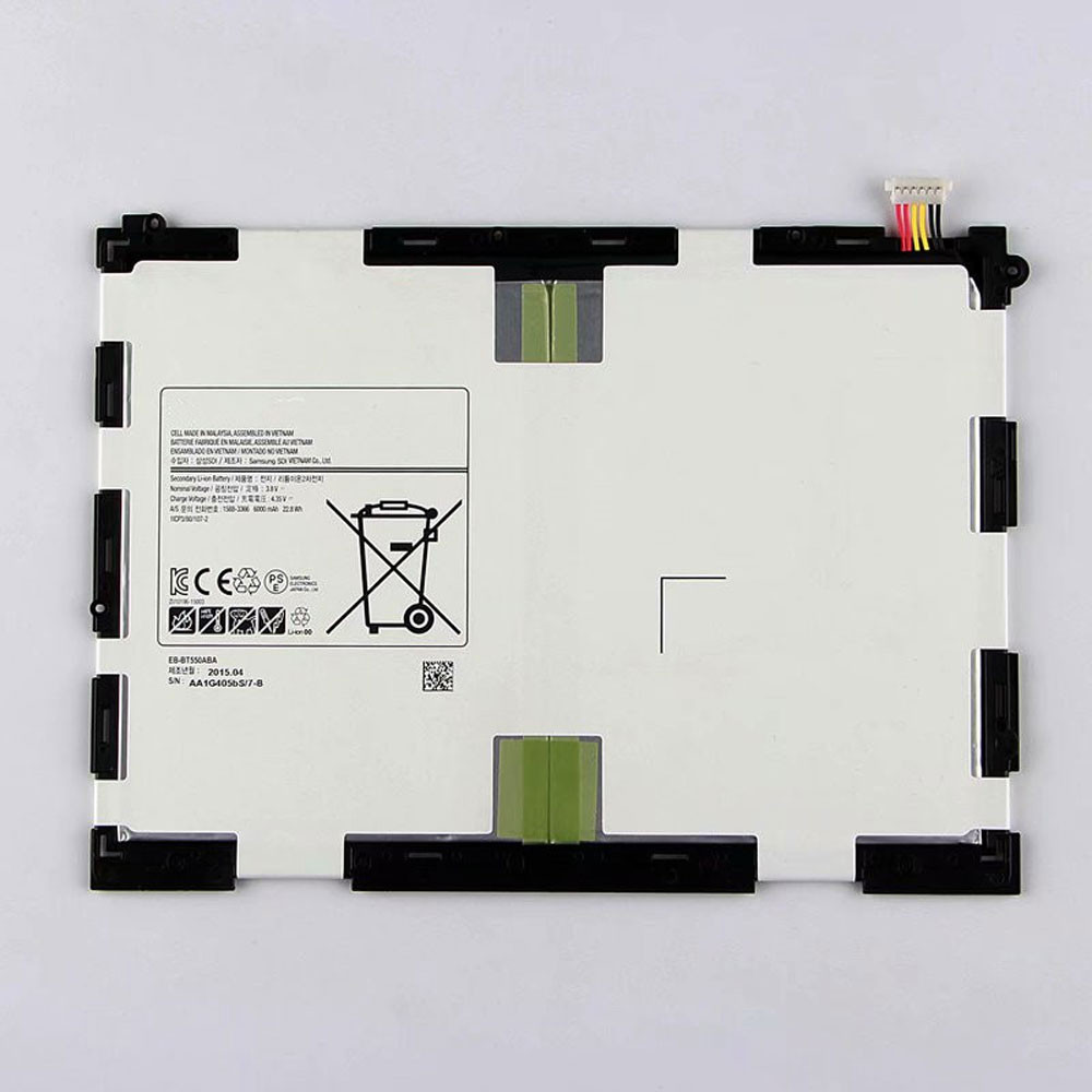 6000MAH/22.8Wh 3.8V/4.35V BT550ABE Replacement Battery for Samsung Galaxy Tab A 9.7 SM-T550 P550