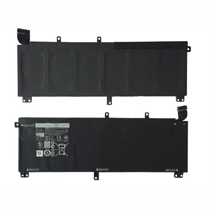 61Wh/6cell DELL Precision M3800 & XPS 15 9530 61Wh 11.1V  Replacement Battery H76MV T0TRM 11.1V