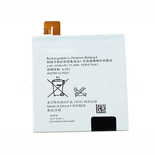 3000MAH Sony Xperia T2 Ultra XM50h D5303 D5306 3000mAh Replacement Battery AGPB012-A001 3.8V
