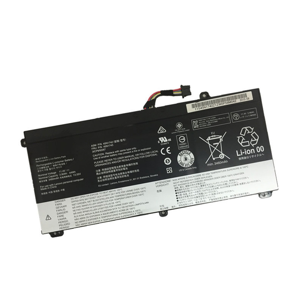 44WH / 3900mAh Lenovo ThinkPad T550 T550s W550 W550s Replacement Battery 45N1741 11.4V