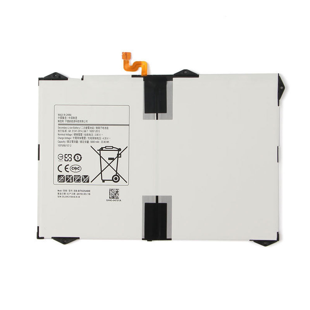 6000MAH/22.80Wh 3.8V/4.35V EB-BT825ABE Replacement Battery for Samsung Tab S3 9.7 inch SM-T825C
