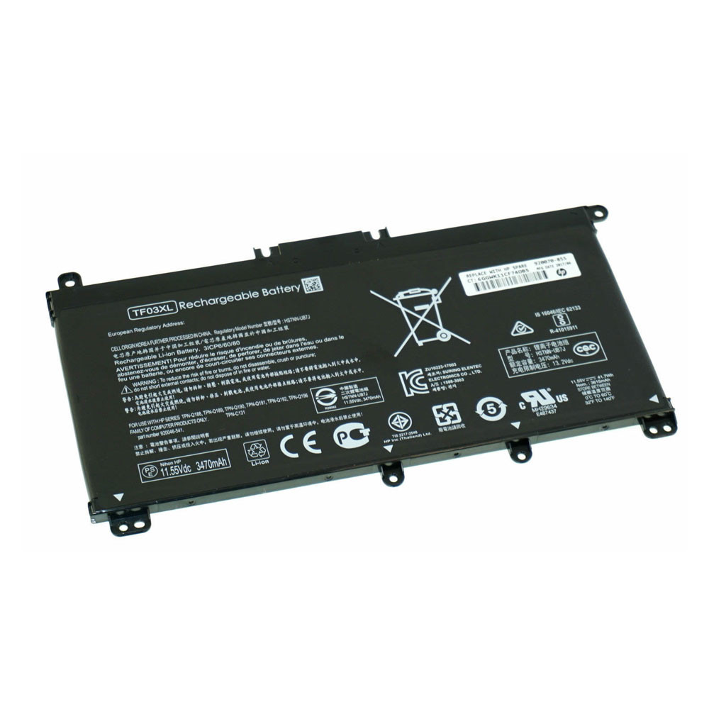 3470mAh/41.7Wh 11.55V TF03XL Replacement Battery for HP Pavilion 15-CD