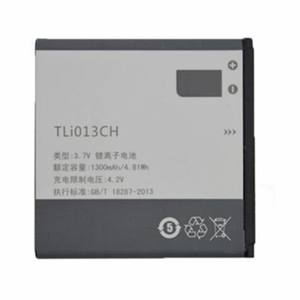 1300mAh/4.81WH 3.7V/4.2V TLI013CH Replacement Battery for Alcatel TCL P301C P302C