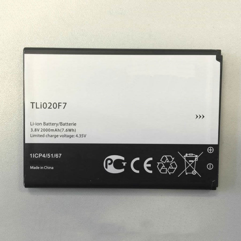 2000MAH/7.6Wh 3.8V/4.35V TLI020F7 Replacement Battery for Alcatel Onetouch Pixi 4 (5) 5045D