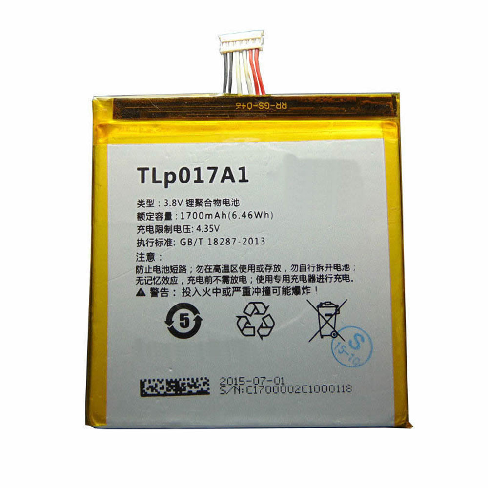 1700MAH/6.5Wh 3.8V/4.35V TLP017A1 Replacement Battery for Alcatel One Touch Idol Mini OT6012 OT-6012A
