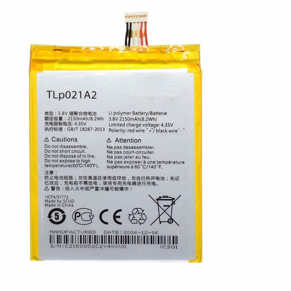 2150MAH/8.2Wh 3.8V/4.35V TLP021A2 Replacement Battery for Alcatel One Touch Idol 2S OT-6050 OT-6050Y TCL S830U S838M
