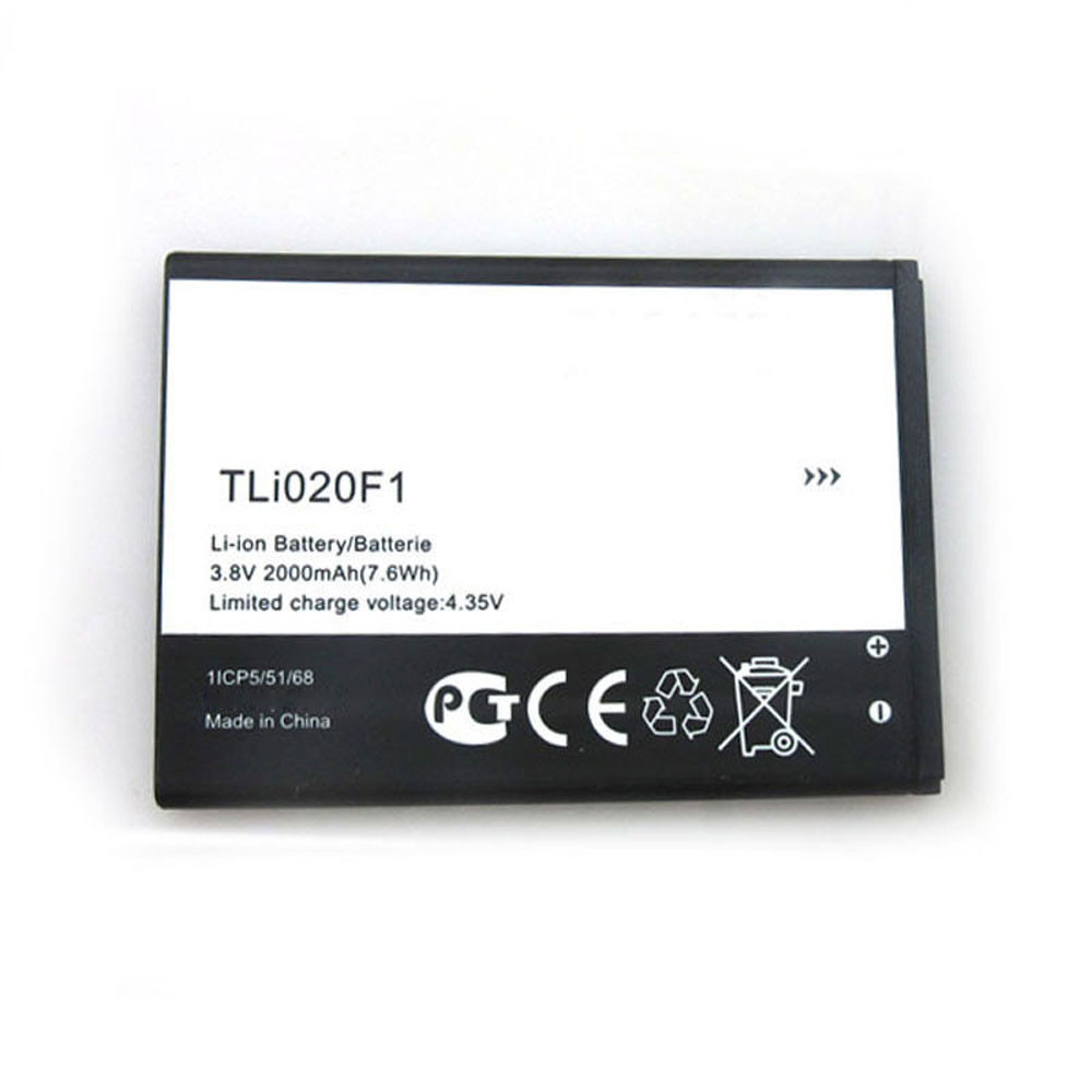 2000MAH/7.6Wh 3.8V/4.35V TLI020F1 Replacement Battery for Alcatel One Touch Pop 2 5042d