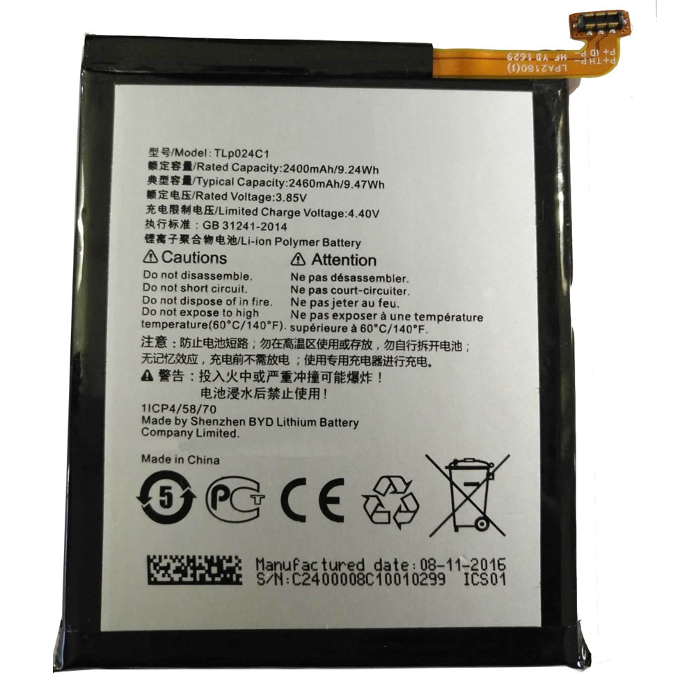 3500MAH/13.3Wh 3.8V/4.35V TLP024C1 Replacement Battery for Alcatel A3 OT-5046/Shine Lite OT-5080 5080X