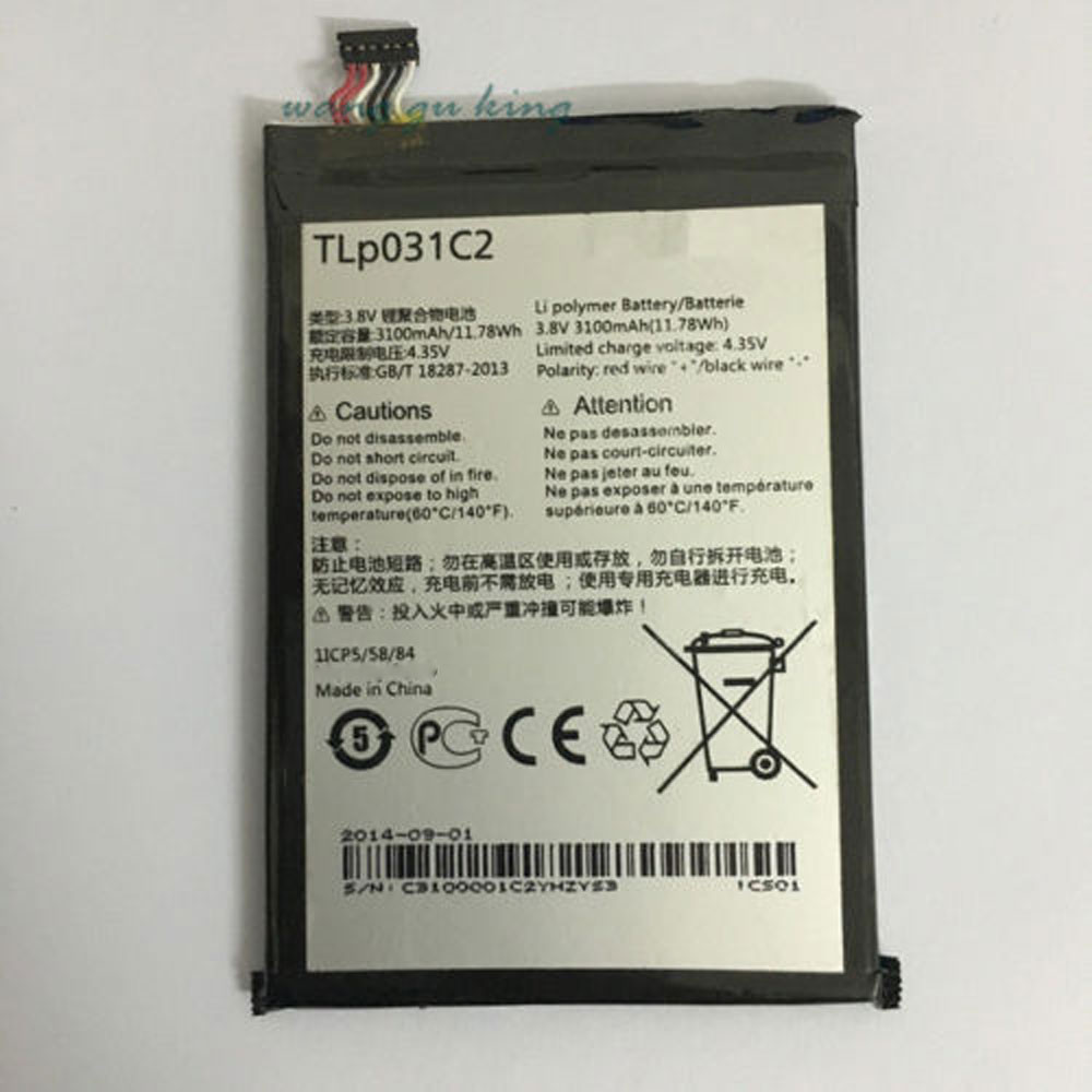 3100MAH/11.78Wh 3.8V/4.35V TLp031C2 Replacement Battery for Alcatel One Touch Hero 2 OT-8030 OT-8030B