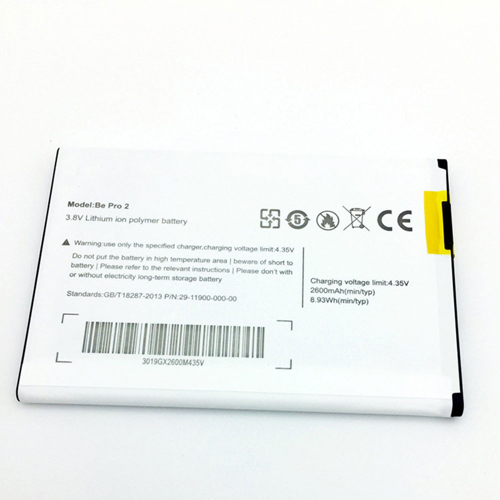 2600mAh/8.93WH 3.8V/4.35V Be_Pro_2 Replacement Battery for Ulefone L55