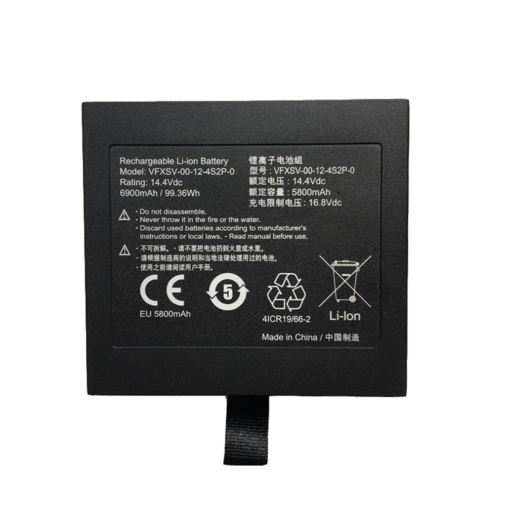 83.52Wh/5800mAh 14.4V VFXSV-00-12-4S2P-0 Replacement Battery for Getac VFXSV-0 4ICR19/66-2 Series