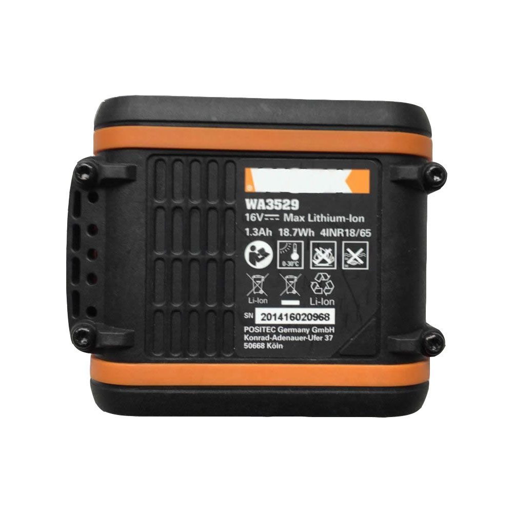 1.3Ah/18.7wh 16V WA3529 Replacement Battery for WORX WA3529