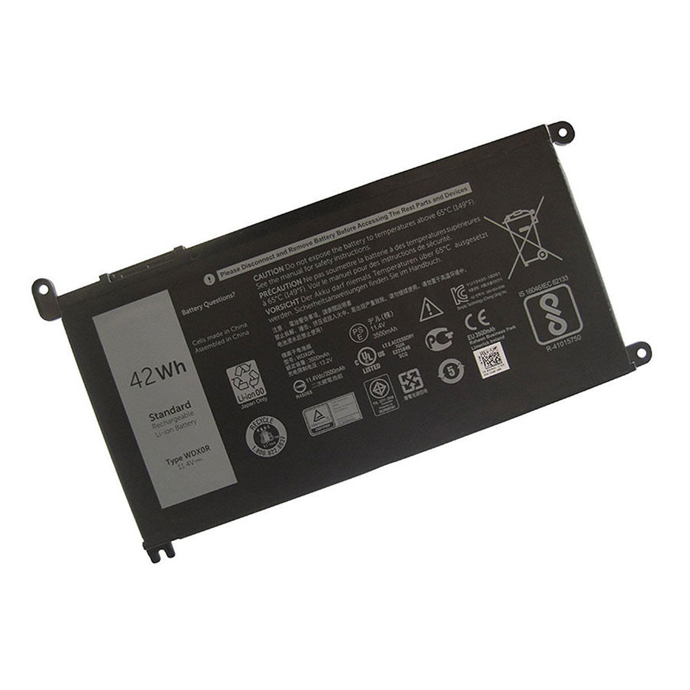 42Wh 11.4v WDXOR Replacement Battery for Dell Inspiron 15 5568 13 7368 Series