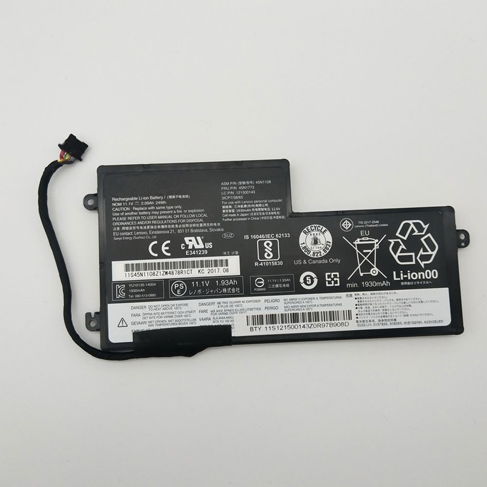 24Wh 11.1V/11.4V 45N1110 Replacement Battery for Lenovo ThinkPad T440S T440 T450 T450s T460 X240 X240S X250 X250S X260 S440 S540 Series