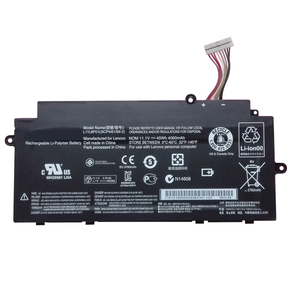 4060mAh/45Wh Lenovo Ideapad U510 U31 Touch Replacement Battery L11M3P02 11.1V