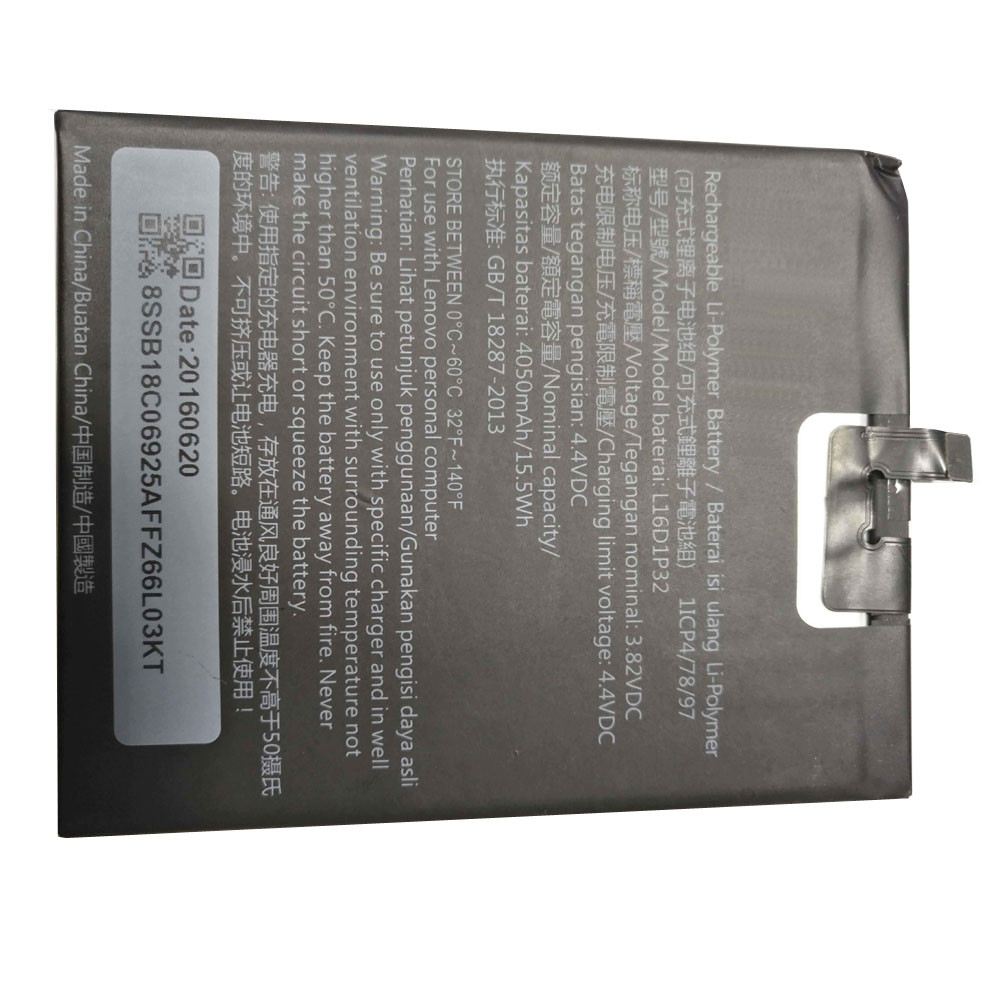 4050mAh Lenovo Tablet Smart Phone Replacement Battery L16D1P32 3.82V