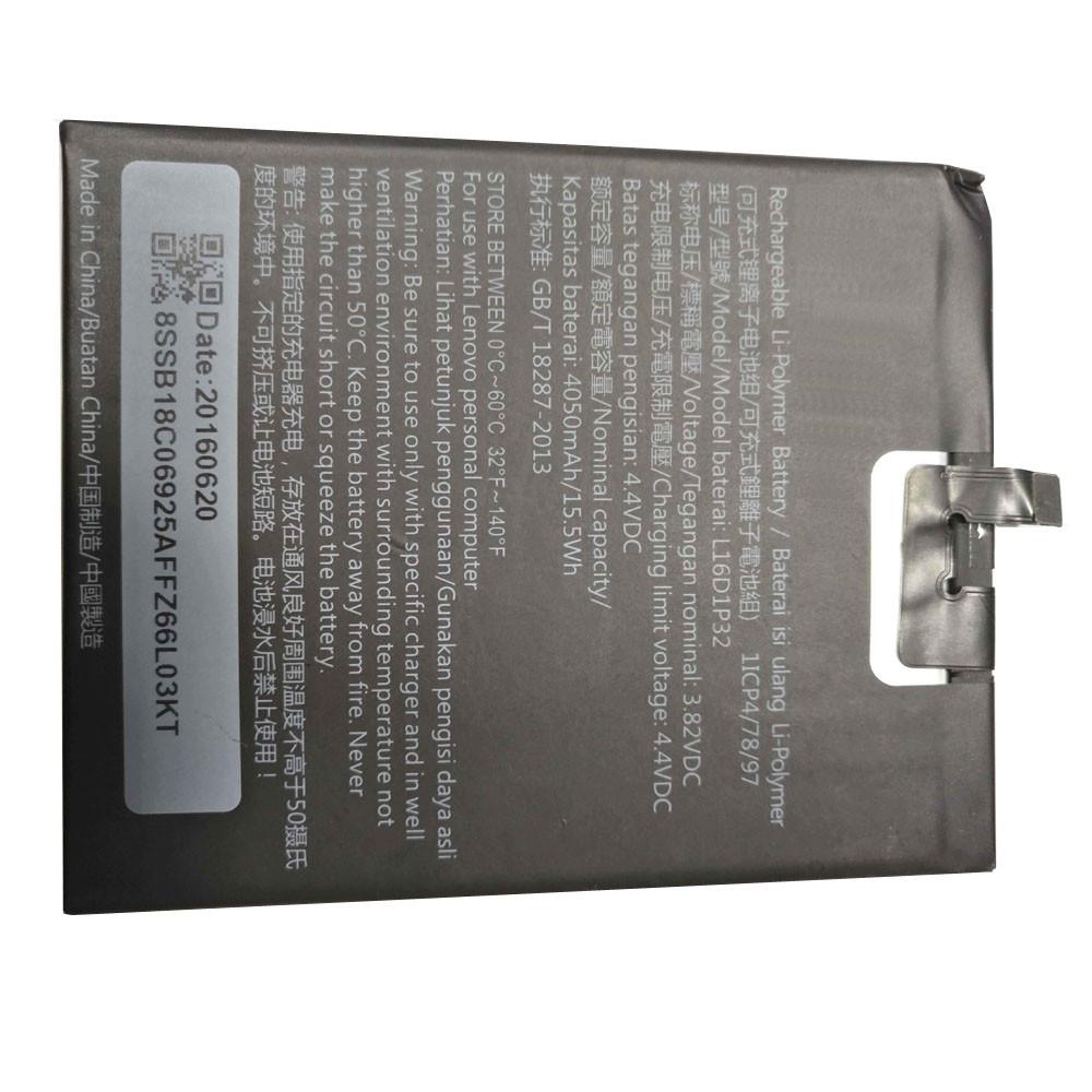 4050mAh Lenovo Tablet Smart Phone Replacement Battery L16D1P32 3.82V