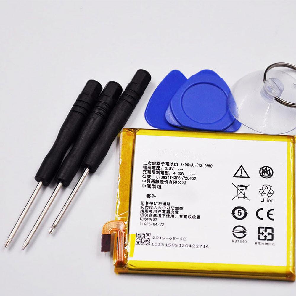 3400mAh/12.9WH 3.8V/4.35V li3834t43p6h726452 Replacement Battery for ZTE BLADE V2 LITE