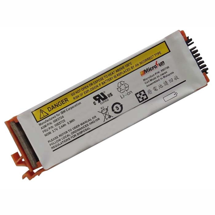 2.4Ah 8.9Wh IBM 44V7597 Brand New 74Y6124 74y5997 42r8705 Replacement Battery 44V7597 3.7V