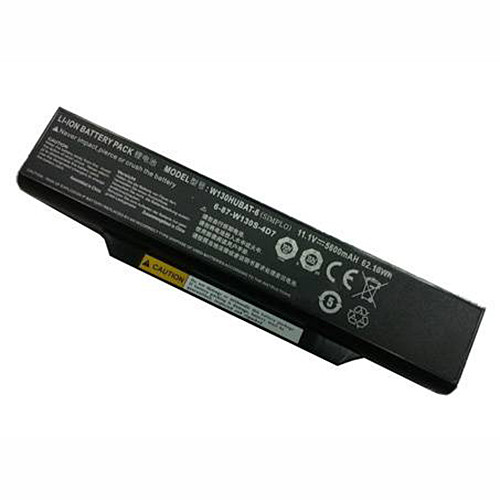 5600mah/6cell Clevo W130HUBAT-6 Replacement Battery 6-87-W130S-4D7 11.1V