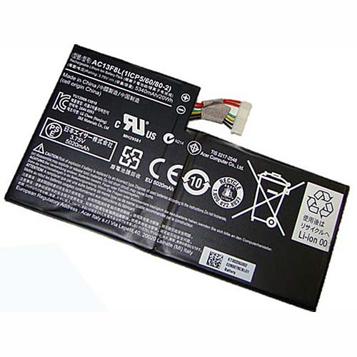 5340mah/20wh Acer Iconia Tab A1-A810 Tablet Battery AC13F3L 1ICP5/60/80-2 Replacement Battery AC13F8L 3.75V
