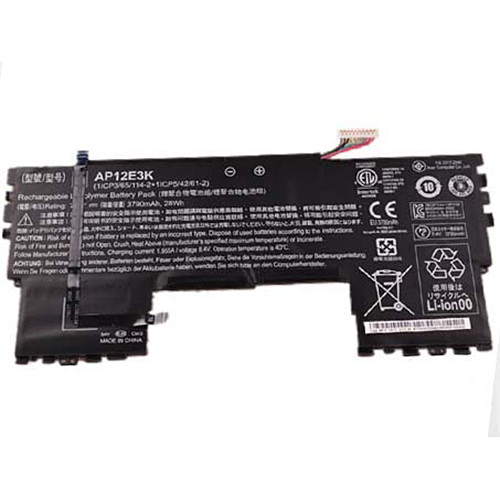 3790mah ACER Aspire S7 191 Ultrabook 11-inch 11CP5/42/61-2 Replacement Battery AP12E3K 7.4V